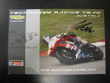 Technogym Racing Team IDM SSP Yamaha R6 2010 #76 Günther Knoblauch (AT) signed