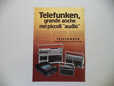 advertising Pubblicità 1977 TELEFUNKEN PARTNER 500/200/BAJAZZO/MICRO