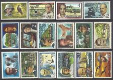 CHRISTMAS IS 1977 FAMOUS VISITORS Explorers many Topics 16v MNH