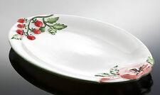 BASSANO große ovale Tomaten Servierplatte Ausgefallene italienisch Keramik 44x30