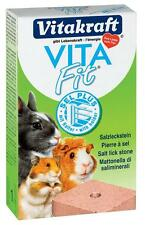 Hamster Salt Lick Stone 40g Mineral Supplement Rabbit Guinea Pig Vita Fit