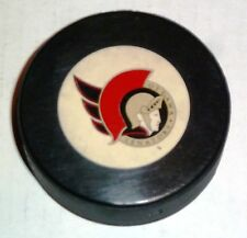 Vintage NHL Hockey Trench Official Game Puck Ottawa Senators / General D8