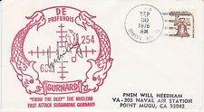 USS DIXON AS-7 CANCELED SEP 30, 1976 SIGNED NAVAL SHIP EVENT COVER