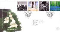 4 JULY 2000 STONE AND SOIL ROYAL MAIL  FIRST DAY COVER KILLYLEAGH SHS