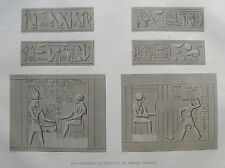 DESCRIPTION DE L'EGYPTE, 1809, EDFOU (APOLLINOPOLIS MAGNA), BAS-RELIEFS TEMPLE