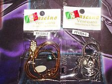Two Necklace pendants silver w/ crystals and gold & silver chains! Swarovski NEW