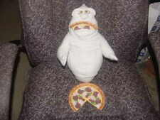 "14"" Fatso Feed Me Pizza Plush With Glow In The Dark Eyes From Casper 1994 Amblin"