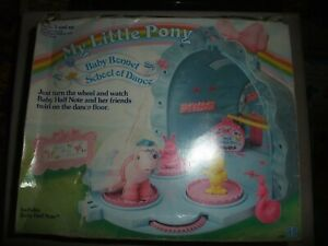 Rare Vintage My Little Pony MLP Baby Bonnet School of Dance near complete boxed