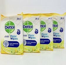 Dettol Wipes Lemon & Lime Scent Multipack of 4 x 25 Wipes Total 100 Wipes