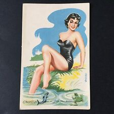 CPA Ancienne Pin Up 1957 Vintage Postcard PC