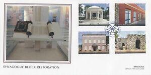 Barbados 2021 FDC Architecture Stamps Synagogue Block Restoration 4v Set