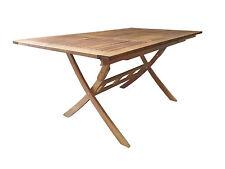 RAMSEY Gartentisch 110-160/90 Eukalyptus Tisch Klapptisch Holztisch Balkontisch