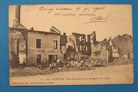 Ardennes 08 AK CPA Bazeilles 1904 Restaurant de la Commune ruines bataille 1870