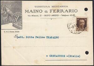 AA6627 Texture Mechanical Maino & Faris - Bust Arsizio 1942 - Card