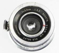 Old Delft 3.5cm f3.5 Minor Contax RF mount  #503576