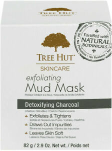 Tree Hut Skincare Exfoliating Mud Mask Detoxifying Charcoal 2.9 oz Made In USA