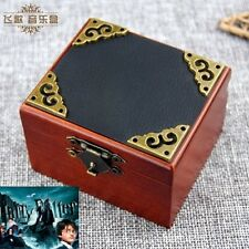 Vintage Square Black Cover Wind Up Music Box  : Prologue Harry potter Theme song