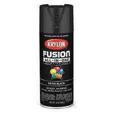 KRYLON K02732007 Rust Preventative Spray Paint, Black, Satin, 12 oz.