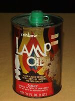 VINTAGE LANTERN RAINBOW PINE SCENTED GREEN LAMP OIL TIN CAN EMPTY