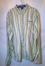 Phat Farm Langarm Knopf Gestreift Französisch Manschette Shirt Größe XXL