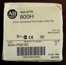 ALLEN BRADLEY Clear Lens Illuminated Momentary Push Button 120V 800H PRA16C