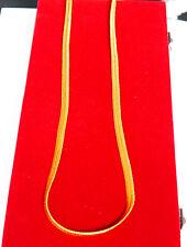 18kt Cadena De Enchapado En Oro Amarillo Moda Collar Indio Asiático. L - 24 en u30a