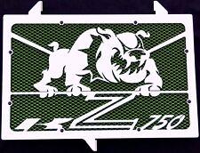 "cache / Grille de radiateur inox poli Kawasaki Z750 07>12 ""Bulldog"" +grill.vert"