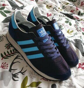 Marathon 85 Adidas size uk 11.5 customised dyed and stripes/ heel painted custom