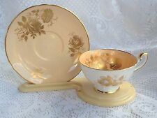 Stunning Shelley 0600/315 Pink/Peach with Gold Gilding Tea Cup &  Saucer (155)