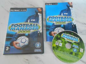 FOOTBALL MANAGER 2006 PC / MAC Cd Rom nm FM 2006 - FAST POST