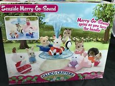 Calico Critters Sylvanian Families Seaside Merry Go Round Ocean Water Fountain
