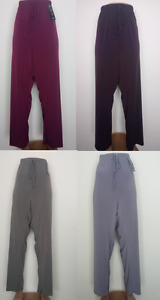NEW LADIES STRAIGHT CUT SLINKY TROUSERS PLUS SIZE 10-24 MADE IN UK