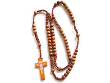 Rosary - wood Prayer Beads - Crucifix Necklace rosario