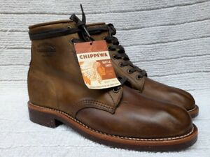 Chippewa Brown 6' Service Boots MADE IN USA USA 9 D
