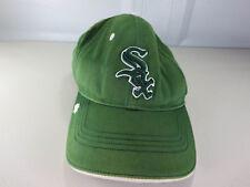 New Era mens faded green clover Irish Chicago White Sox MLB strapback hat EUC
