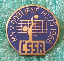WORLD VOLEYBALL CHAMPIONSHIP CZECHOSLOVAKIA 1966 OLD PIN BADGE