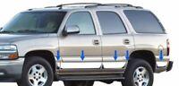 "Stainless Steel 4"" Rocker Panel Molding 10PC For GMC Yukon XL 2000-2004 4 door"