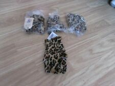 4 SOFT PLUSH LEOPARD THEMED GLOVE PUPPETS BY THE NORTH AMERICAN BEAR CO