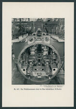 Photo Imperial Navy U-BOAT-BUILDING YARD interior details machinery space technology 1918