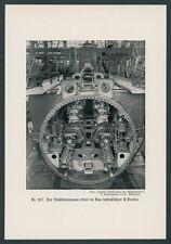 Foto Kaiserliche Marine U-Boot-Bau Werft Innendetails Maschinenraum Technik 1918