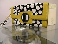 BODEN leather purse and black spotted yallow specked pony print pre-loved double