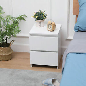 Modern Chest of Drawers Bedside Table Cabinet Nightstand 2 Drawers Bedroom UK