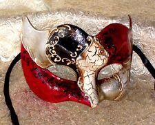 Mens Masquerade Mask ITALIAN Made - OVERNIGHT Metro Aust - Vivaldi Zane Silver