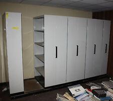 Brownbuilt adjustable steel compactus shelving system Adelaide Brown Built 8 bay