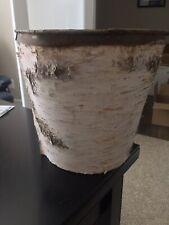 Rustic Lodge Birch Waste Basket