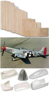 "N.A. P-51D Mustang 69"" Short Kit (Set) Model Aircraft for Scratch Building"
