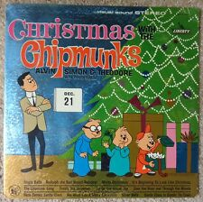 THE CHIPMUNKS 1962 LP ~CHRISTMAS WITH THE CHIPMUNKS~ LIBERTY LST-7256 VG+ ORIG