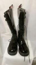 Underground Men Punk Gothic Boots Steel toe 2 Buckle 20 eyelet leather size 7 UK