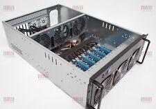 "8 GPU 19"" SERVER 4U 4HE ETHEREUM MINING RIG MONERO MINER RX570 RX580 GTX1080"