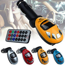 LCD Wireless FM Transmitter Car Kit MP3 Player Support USB SD MMC Slot Car Music